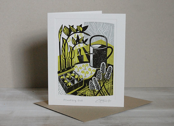 Printmakers Card - Planting Out