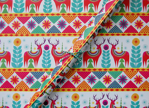 Wrapping paper x 4 - Winter Holiday