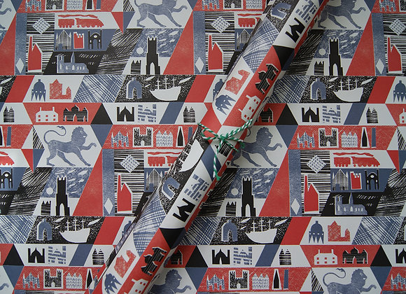 Wrapping paper x 4 - Lionheart