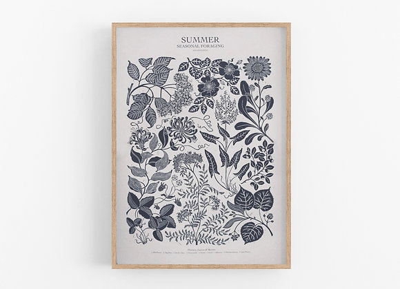 Foraging Poster - Summer