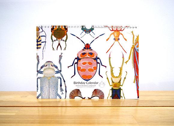 Perpetual Birthday Bug Calendar