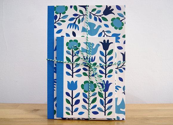 Folk Doves Notebook Set