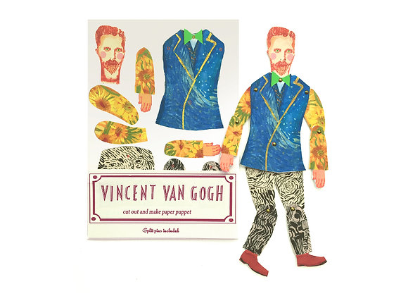 Cut & Make Artist Puppet - Vincent Van Gogh