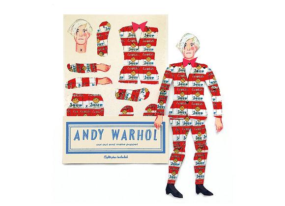 Cut & Make Artist Puppet - Andy Warhol