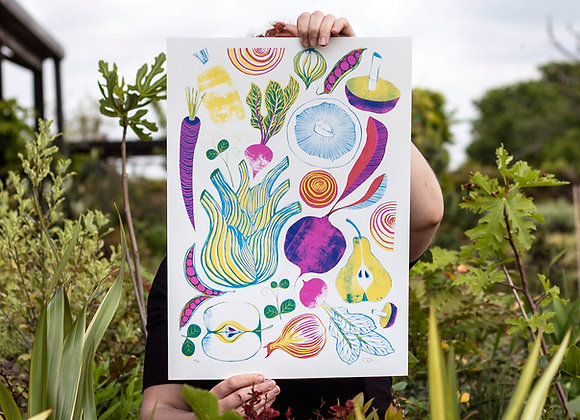 Roots, Fruits and Shoots Screen Print