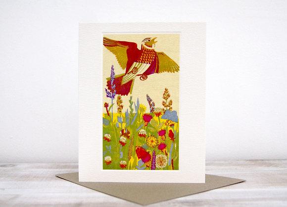 Printmakers Card - Lark Ascending