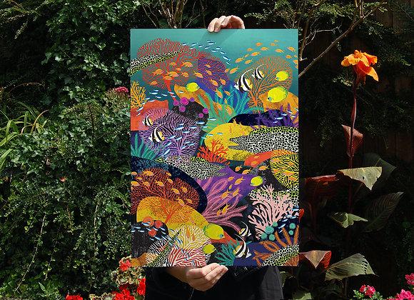 Coral Reef A2 Digital Poster Print