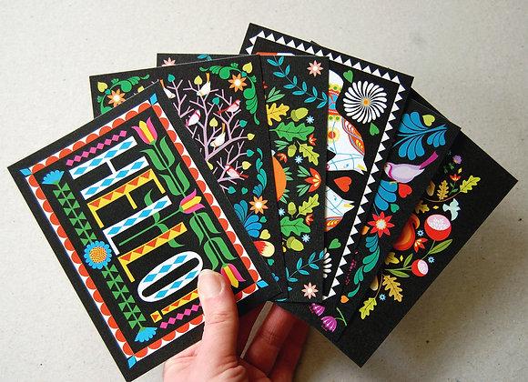 Folk Forest Postcard Pack