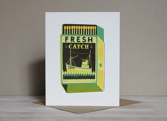 Printmakers Card - Fresh Catch