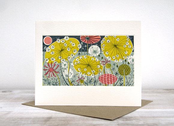 Printmakers Card - Meadow II