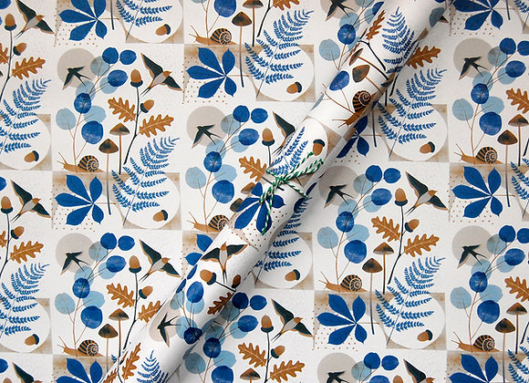 Wrapping paper x 4 - Hedgerow