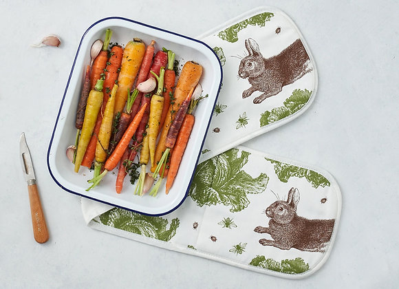 Oven Glove - Rabbit & Cabbage