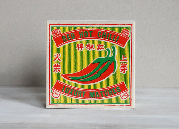 Luxury Matchbox -Red Hot Chilli