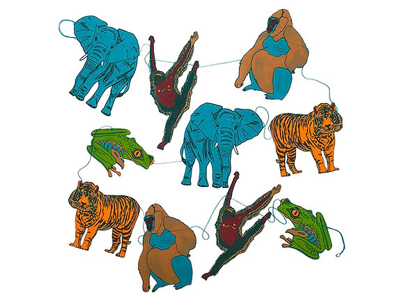 Jungle Animal Paper Garland