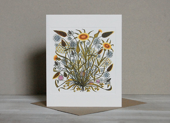 Printmakers Card - Goat's Beard and Grasses