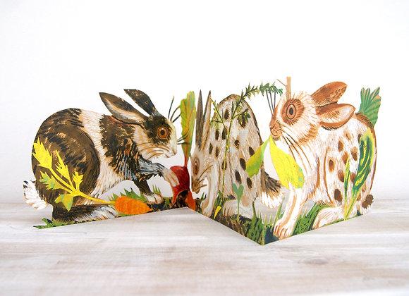 Concertina Card - Rabbits