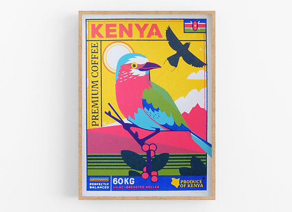 Kenya - Coffee Birds Screen Print