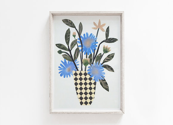 Chequer Vase A4 Print