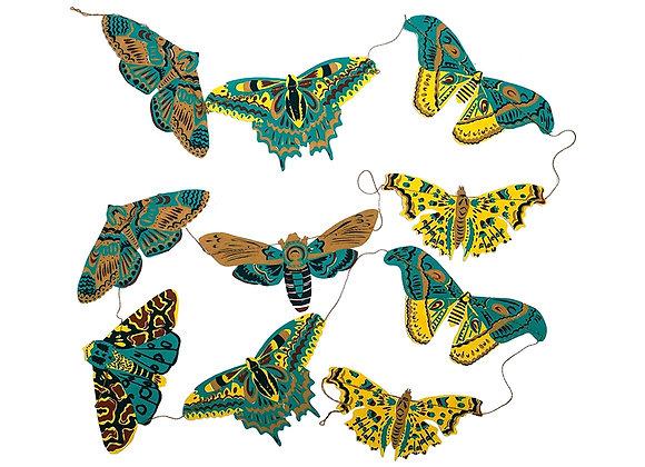 Moths Paper Garland