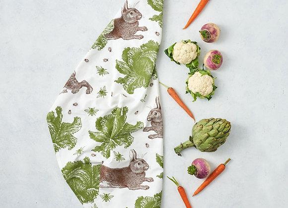 Tea Towel - Rabbit & Cabbage