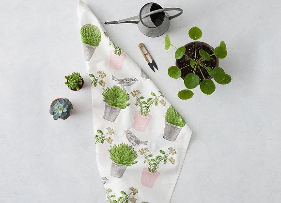Tea Towel - Cactus & Bird