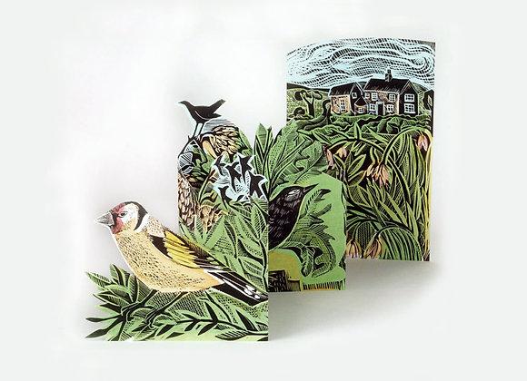 Concertina Card - Garden Birds