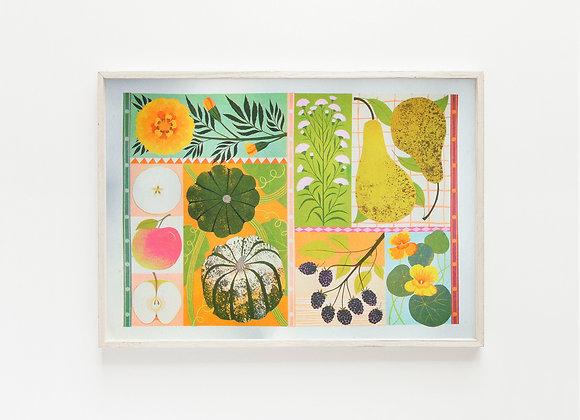 Harvest A3 Risograph Print