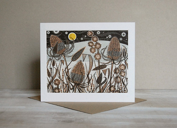 Printmakers Card - Lakeside Teasels