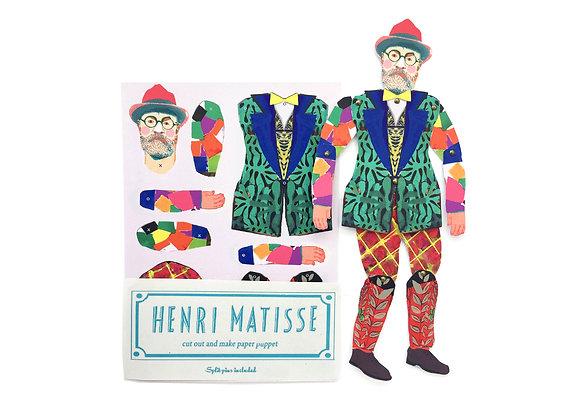 Cut & Make Artist Puppet - Henri Matisse