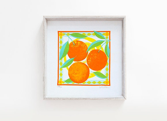 Sweet Orange Risograph Mini Print