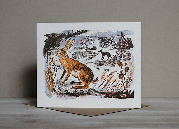 Printmakers Card - First Snow of Winter