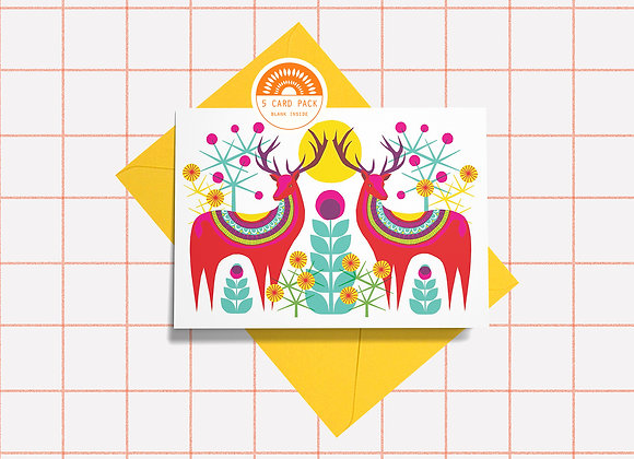 5 Card Pack - Stag