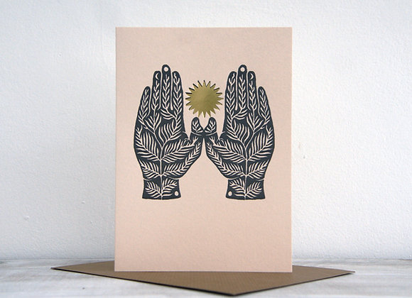 Letterpress Printed Card - Some Roots