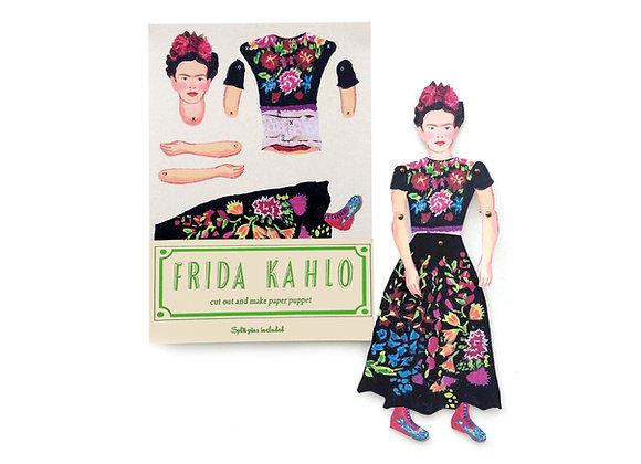 Cut & Make Artist Puppet - Frida Kahlo