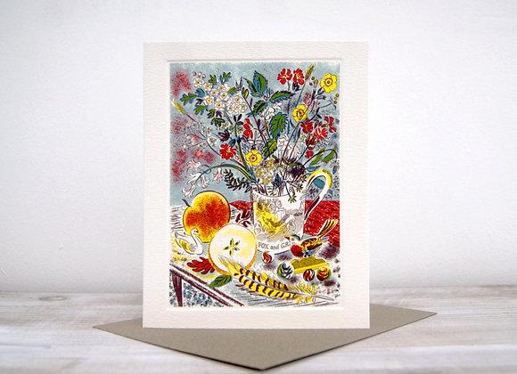 Printmakers Card - Fox & Grapes