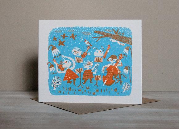Printmakers Card - Winter Symphony
