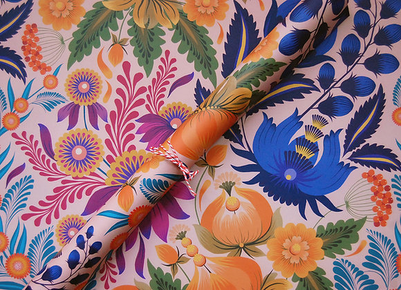 Wrapping paper x 4 - Petrykivka