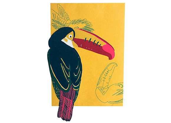 Screen Printed Shaped Card - Toucan