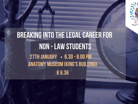 Breaking into the Legal Career for Non-Law students