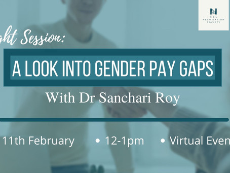 A Look Into Gender Pay Gaps: With Dr Sanchari Roy