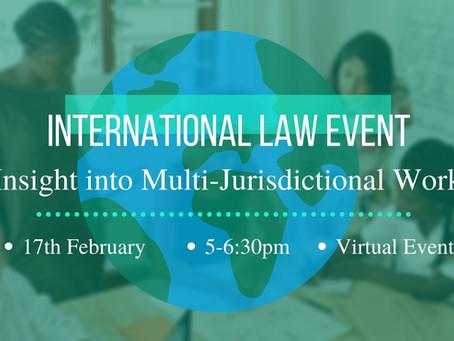 International Law Event: Insight Into Multi-Jurisdictional Work