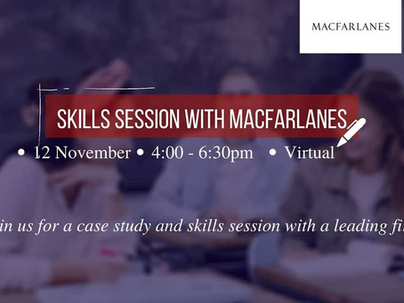 Skills Session With macfarlanes