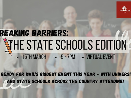 Breaking Barriers: The State School Edition