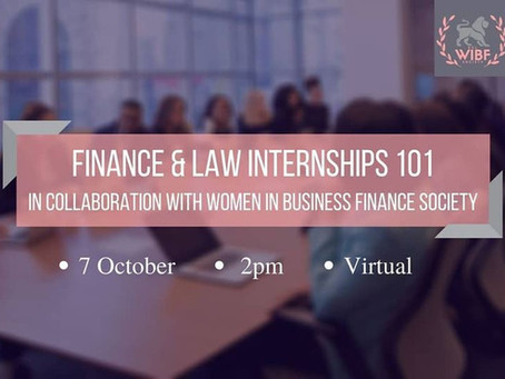 Finance & Law Internship 101 (KWIL x WIBF)