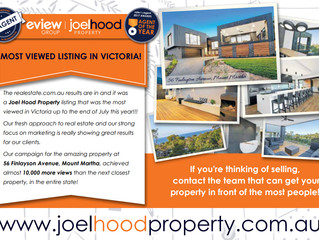 Joel Hood Property Achieve Most Viewed Listing In Victoria & 2nd In Australia!!!