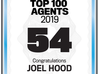 Number 54 in the REB Top 100 Agents in Australia list for 2019!