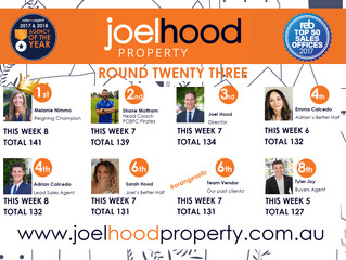 Joel Hood Property AFL Footy Tipping Comp 2018 Regular Season