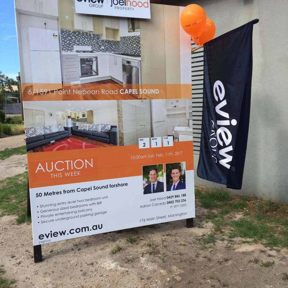 point nepean road auction board