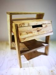 Title: Tabiat side table - rubber wood