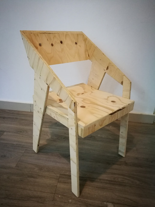 Title: Tabiat chair - pine plywood
